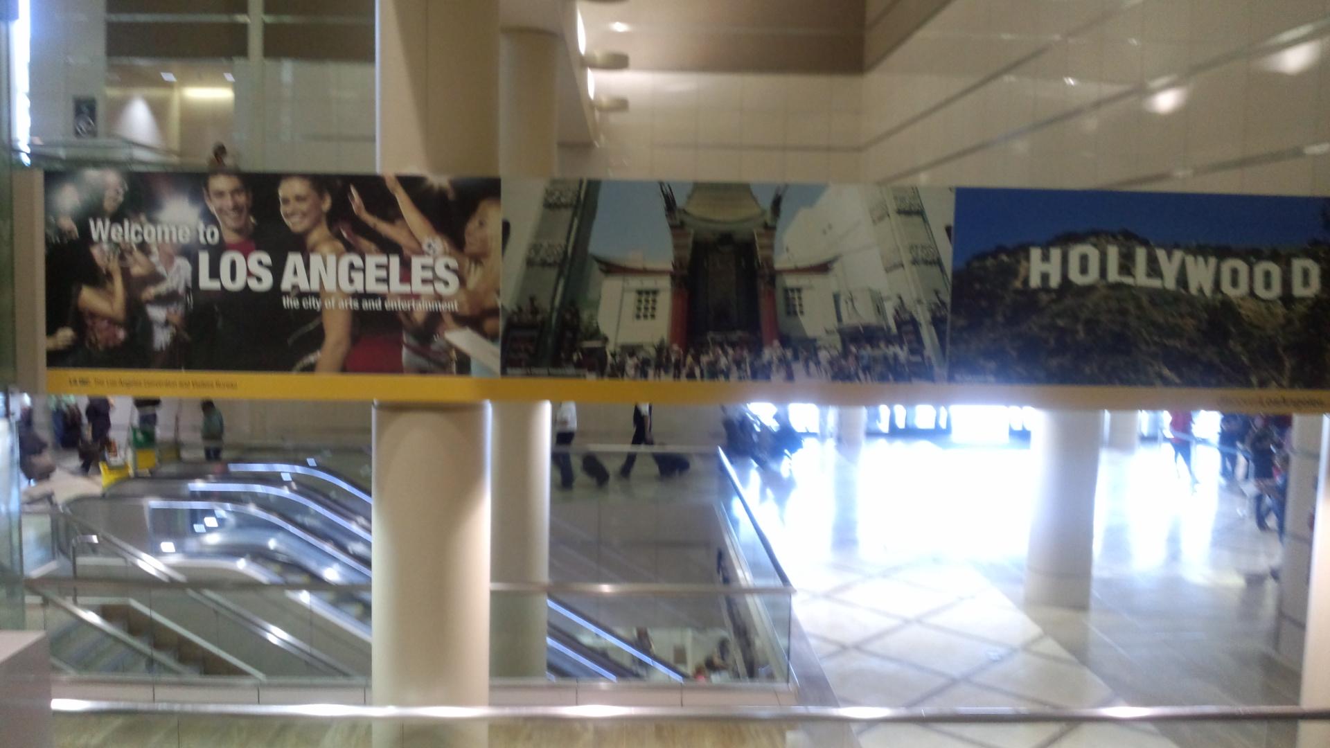 ロサンゼルス到着