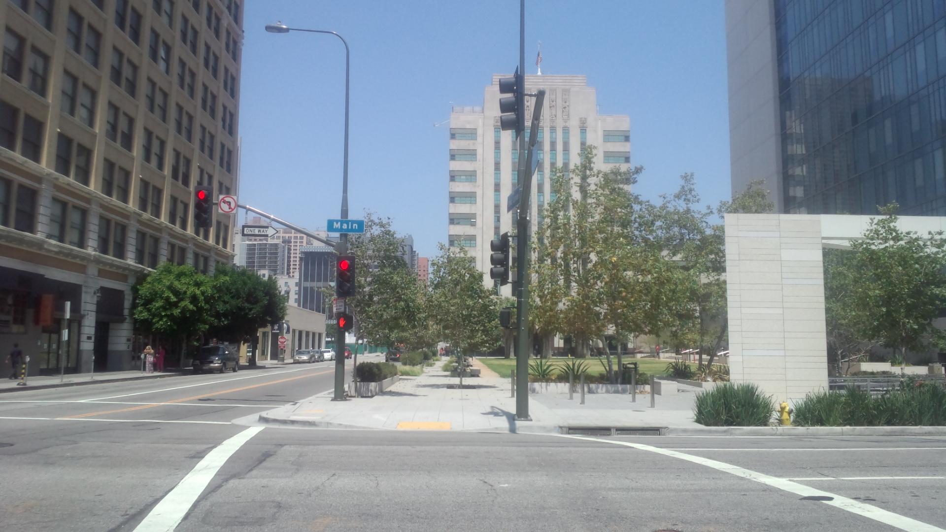 LA・ダウンタウン市街地の風景