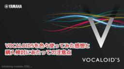 【レビュー】VOCALOID5を発売後2日間で色々使ってみた感想と、購入検討にあたっての注意点