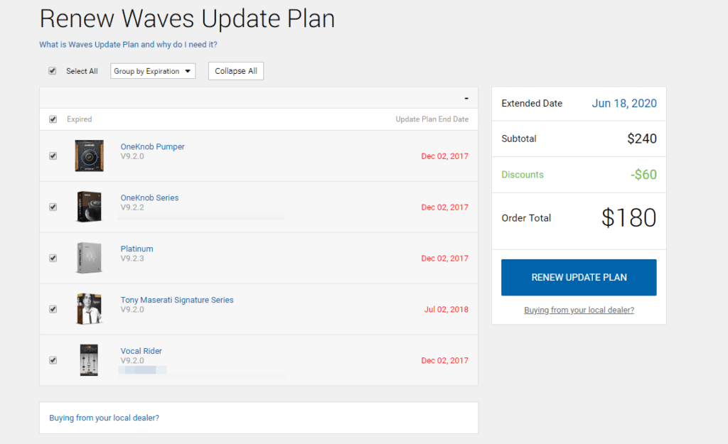 Renew Waves Update Plan