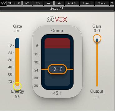 Waves「Renaissance Vox」画面(最近インターフェイスがリニューアルされました)。